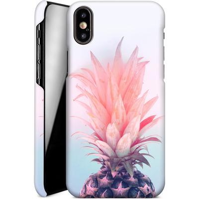 Apple iPhone X Smartphone Huelle - Pastel Pineapple von Emanuela Carratoni