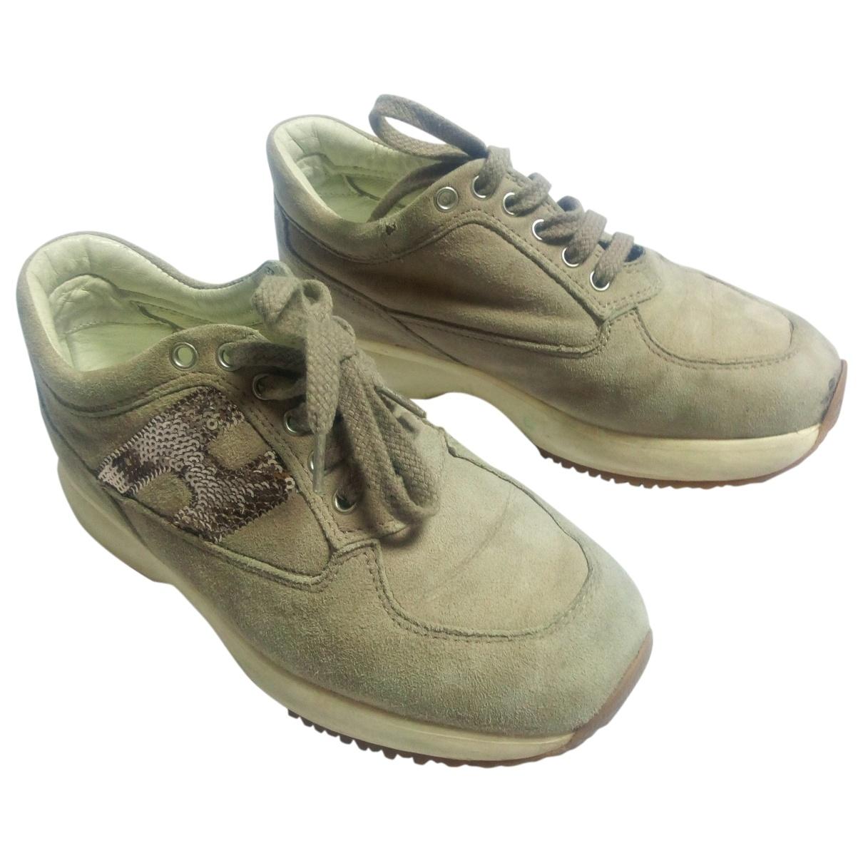 Hogan \N Beige Suede Boots for Kids 29 EU