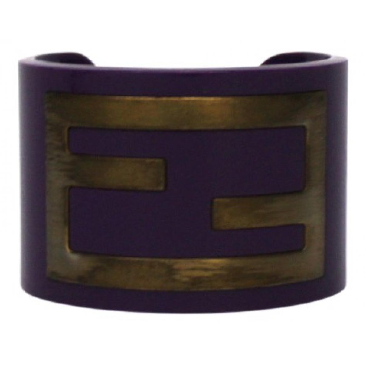 Fendi \N Armband in  Lila Kunststoff