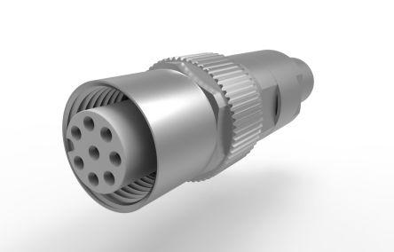 Provertha Connector, 8 contacts Panel Mount M12 Plug, Crimp IP67