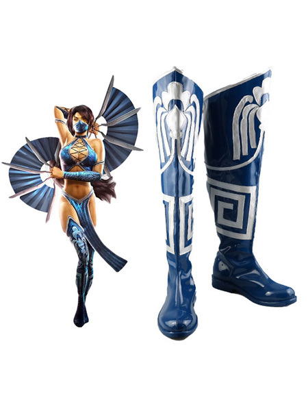 Milanoo Mortal Kombat Kitana Shoes Cosplay Boots