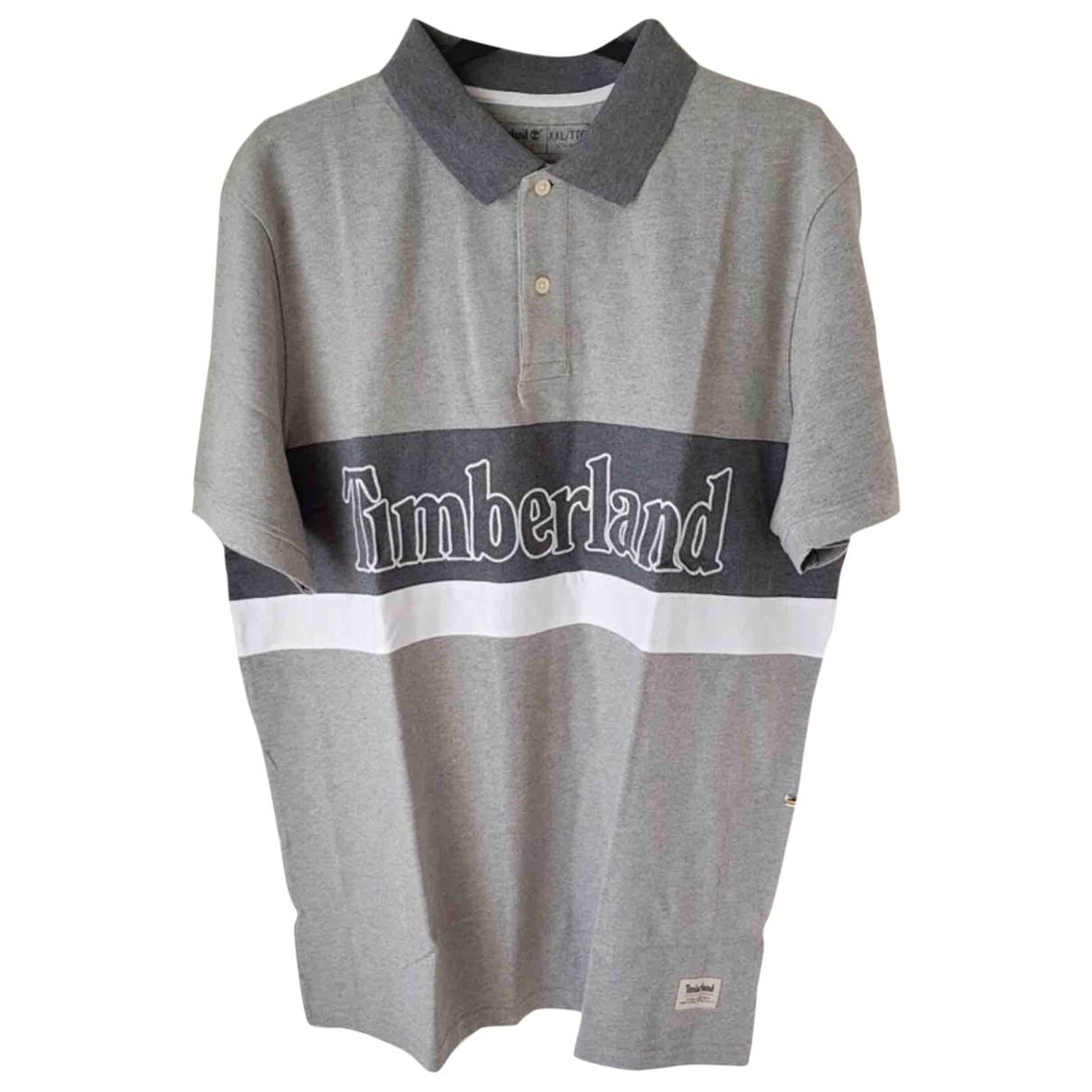 Timberland - Polos   pour homme en coton - anthracite