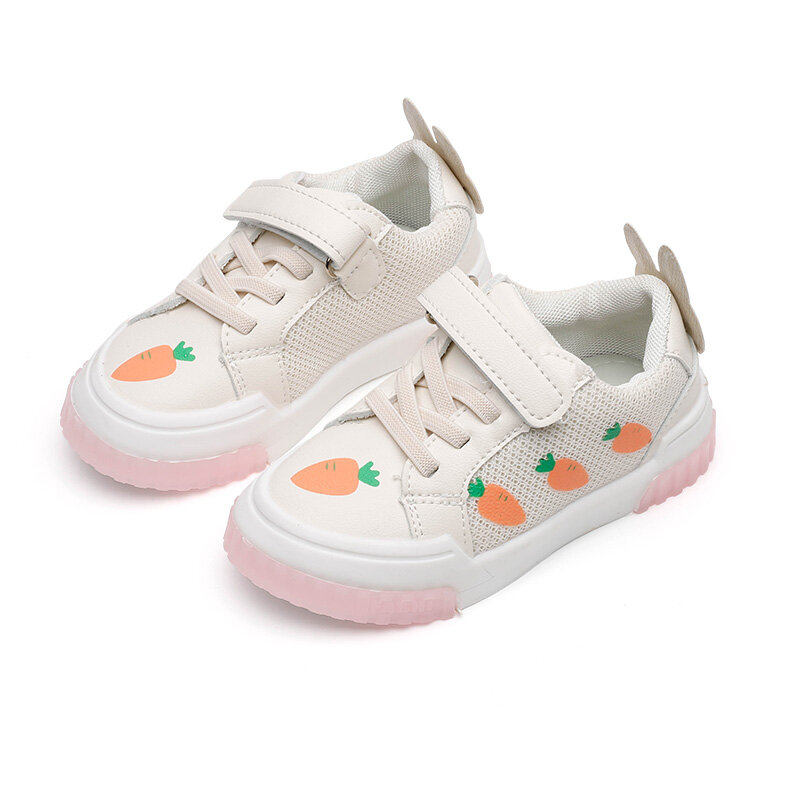 Girls Toddler Shoes Carrot Pattern Cute Rabbit Comfy Soft Sole Casual Shoes