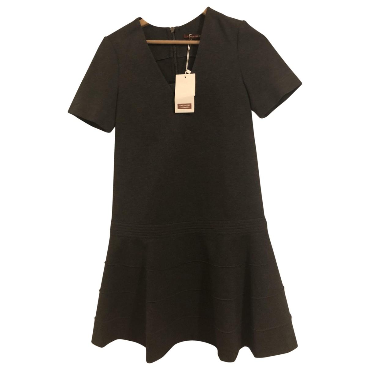 Comptoir Des Cotonniers \N Kleid in  Anthrazit Viskose