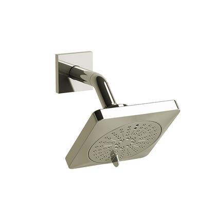 343PN 2-Jet Shower Head with Arm 2.0 GPM  in Polished