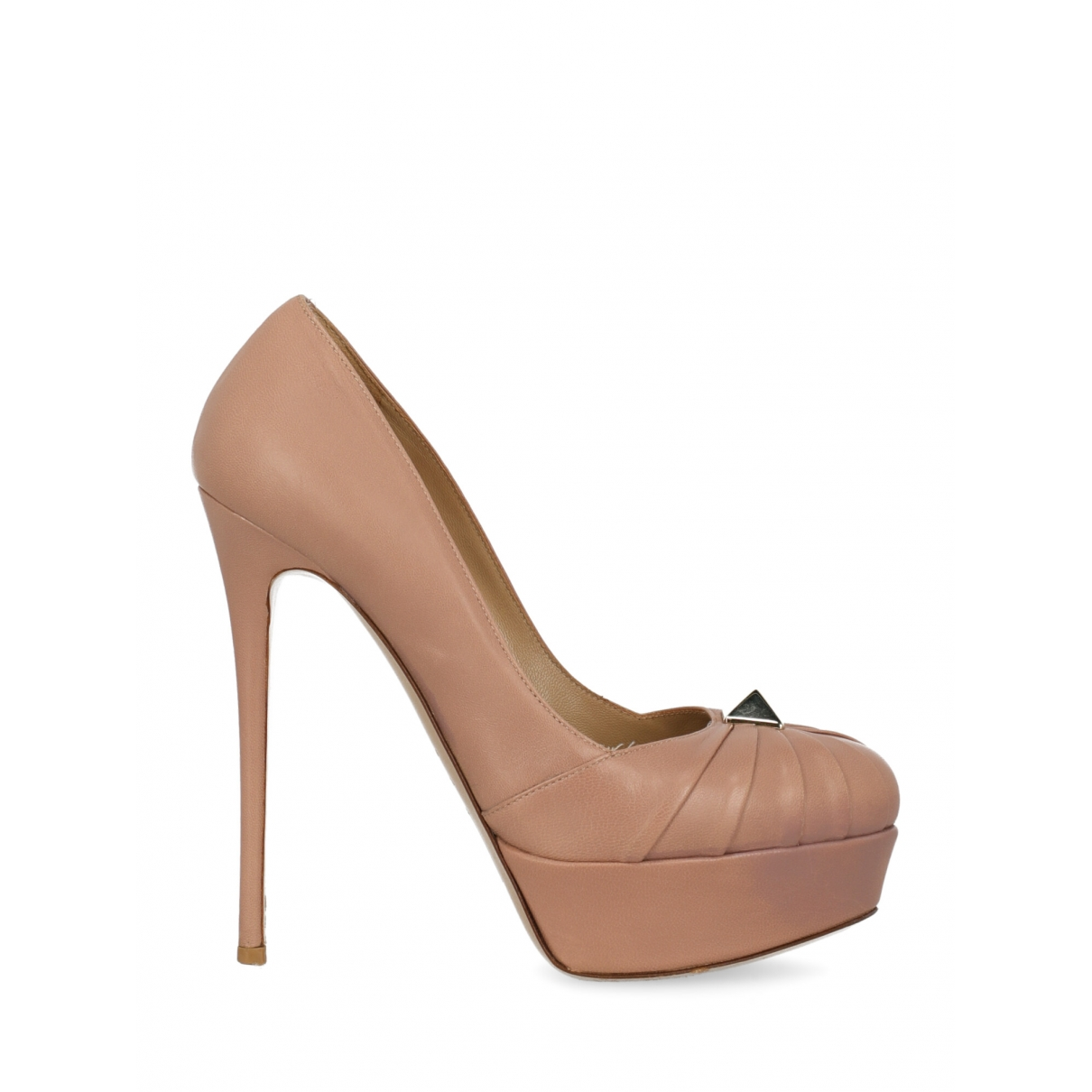 Valentino Garavani \N Pink Leather Heels for Women 38.5 IT