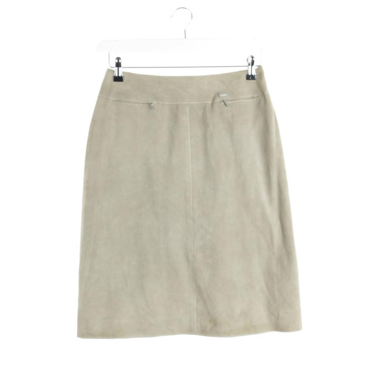 Chanel \N Beige Leather skirt for Women 36 FR