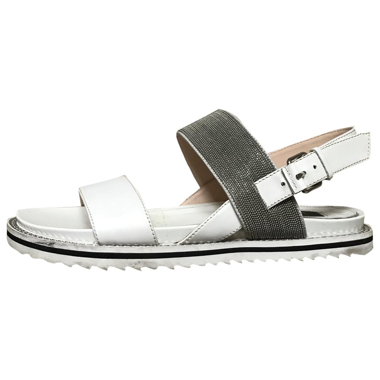Steffen Schraut \N White Leather Sandals for Women 37 EU