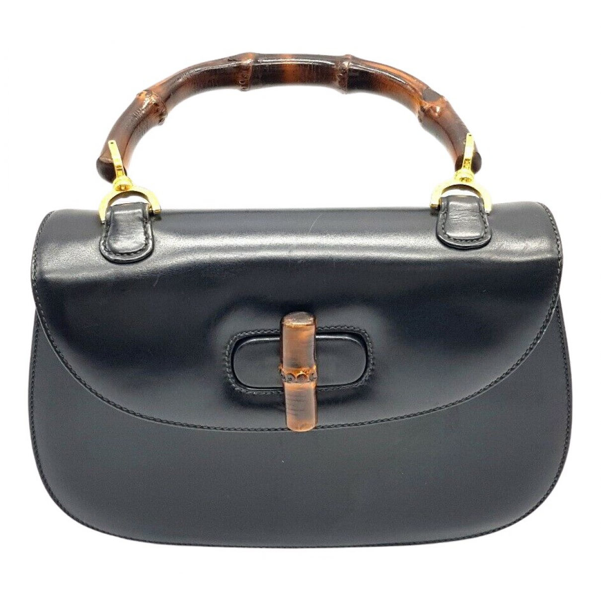 Gucci Bamboo Black Leather handbag for Women N