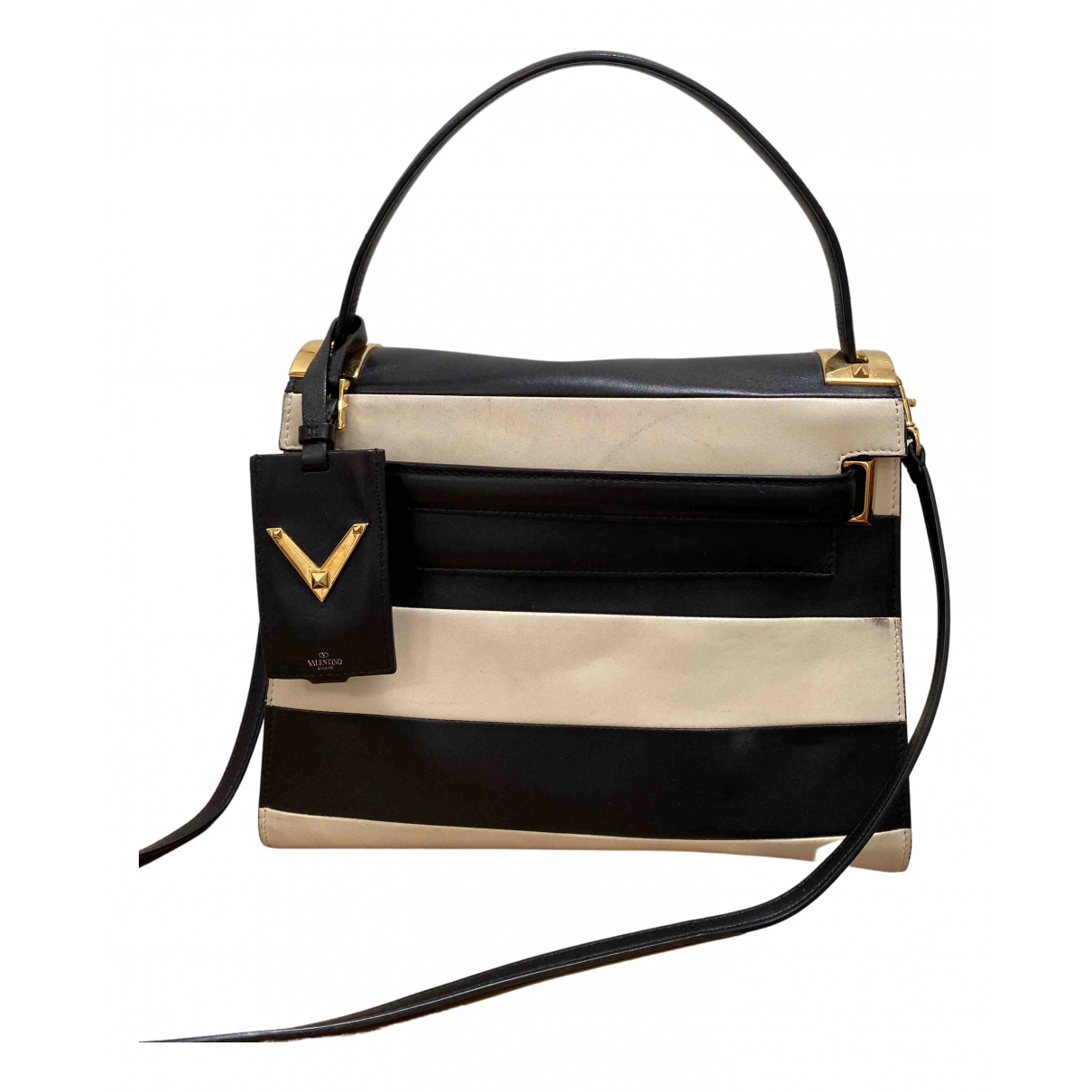 Valentino Garavani - Sac a main My Rockstud pour femme en cuir - noir