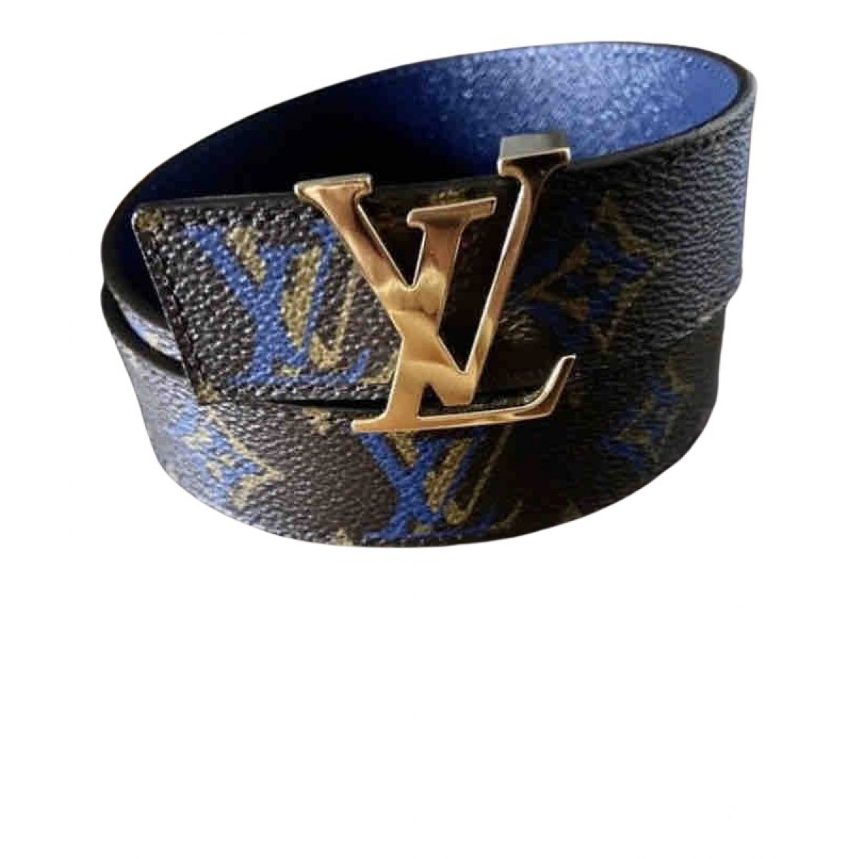 Cinturon Initiales de Lona Louis Vuitton