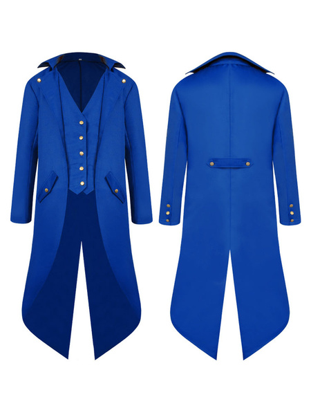 Milanoo Mens Victorian Medieval Jacket Tailcoat Vintage Costume Tuxedo Renaissance Halloween Coats