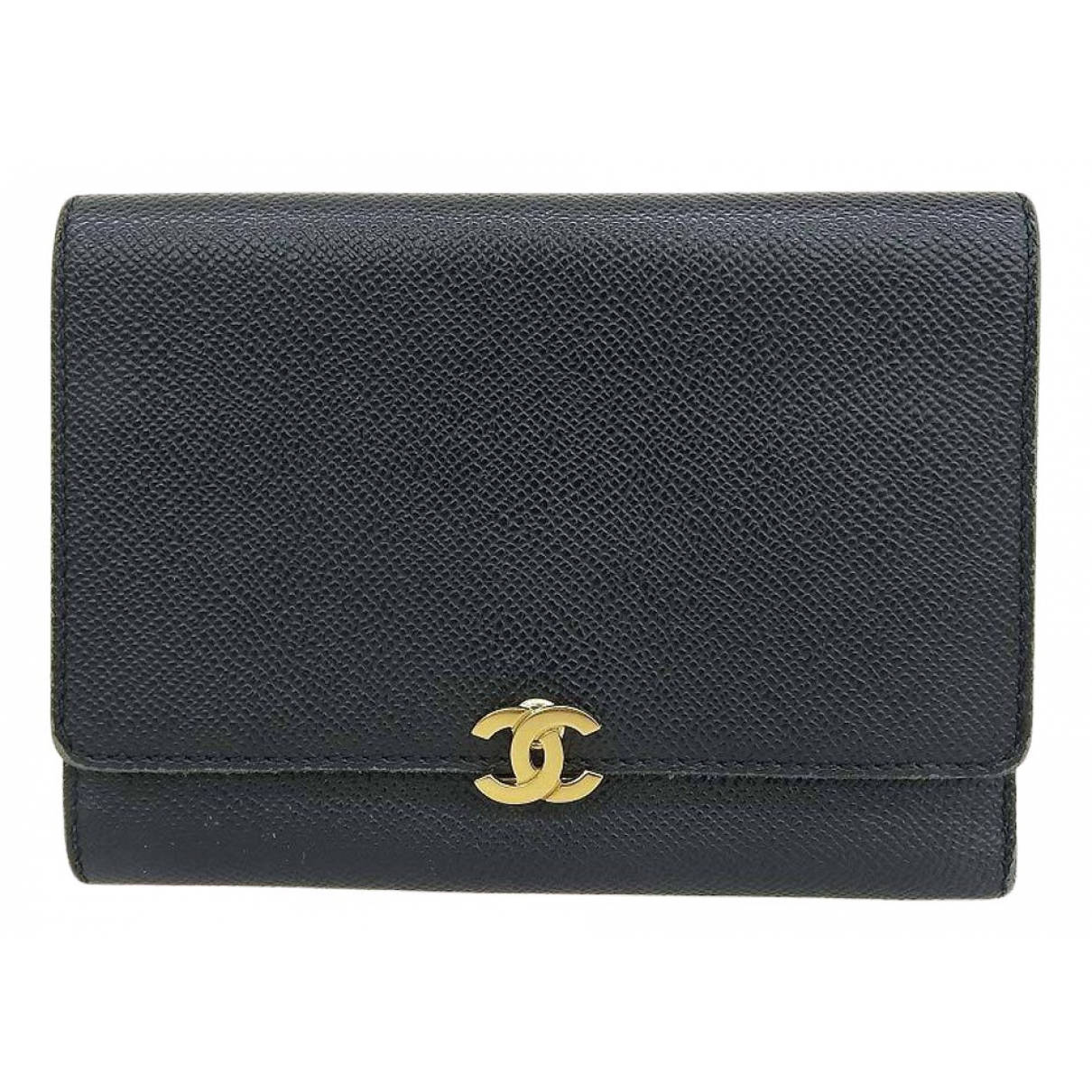 Chanel N Black Leather wallet for Women N
