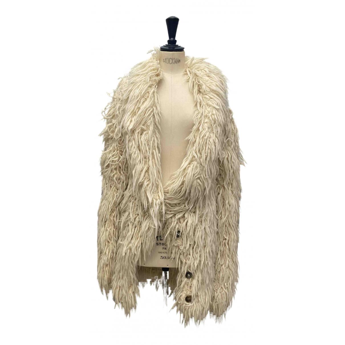 Maison Martin Margiela - Manteau   pour femme en laine - blanc