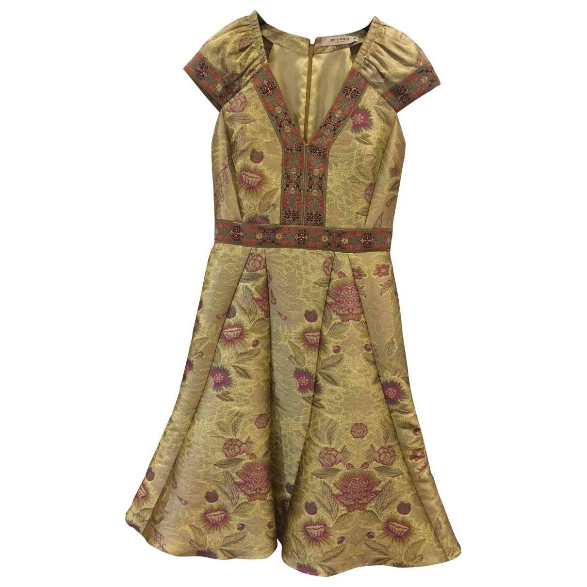 Etro \N Gold dress for Women 42 IT