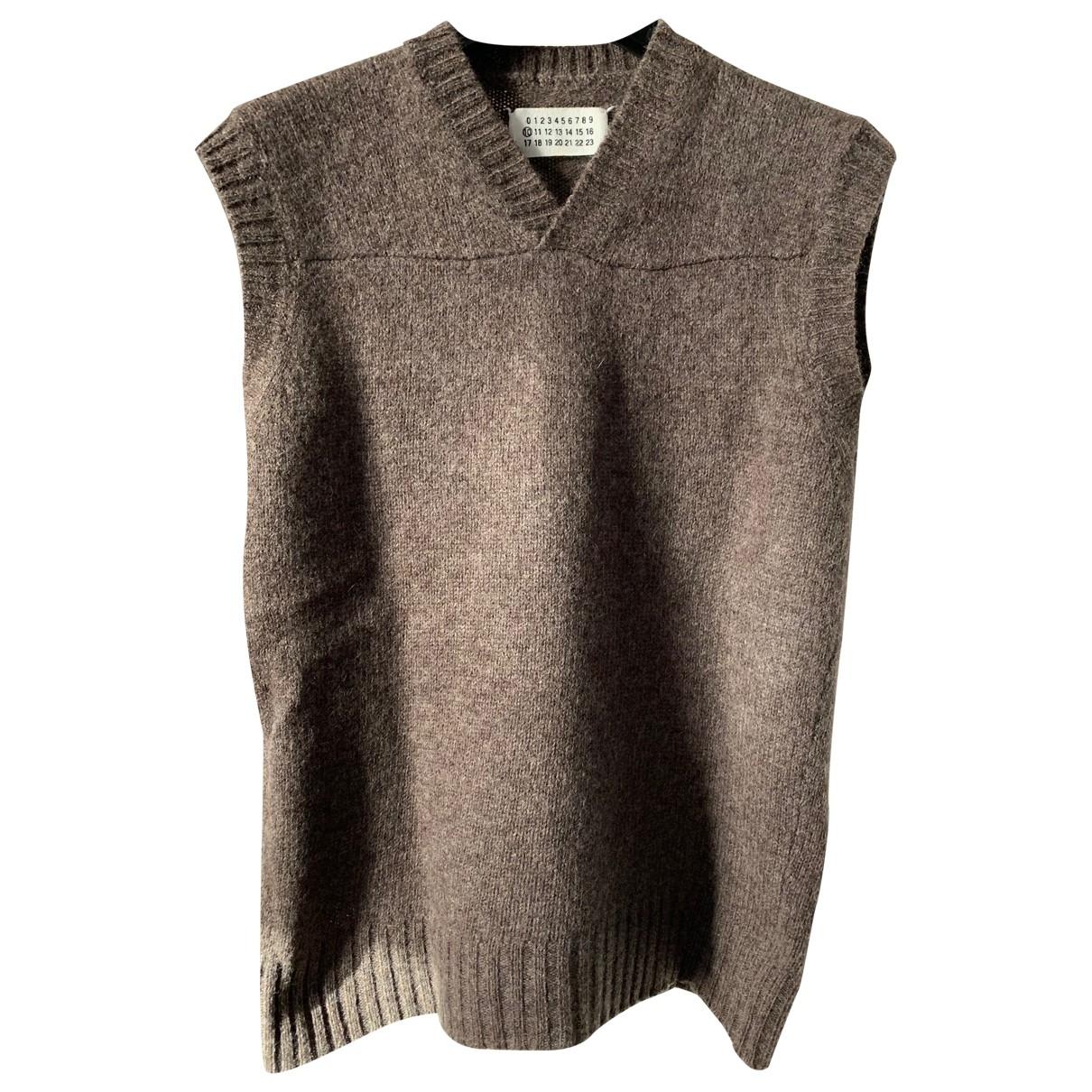 Maison Martin Margiela \N Pullover.Westen.Sweatshirts  in  Braun Wolle