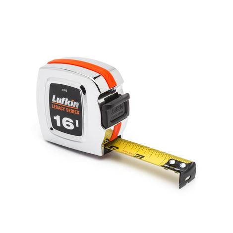 Lufkin Tape Measure 1 In. x 16 Ft. Chrome Legacy Series