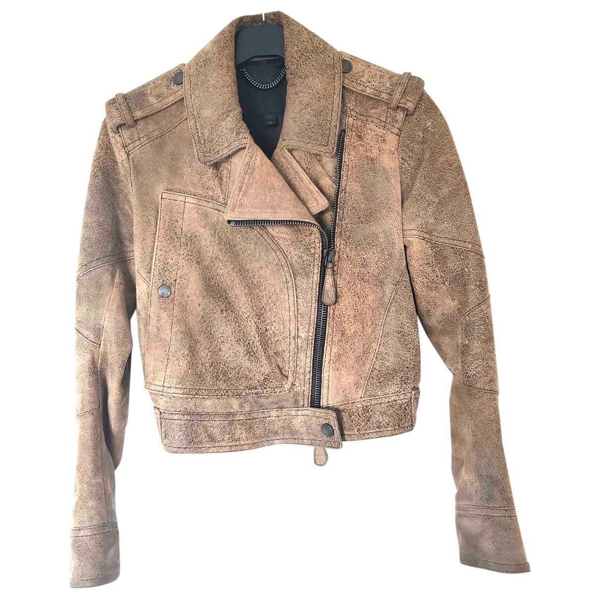 Burberry \N Beige Leather jacket for Women 10 UK