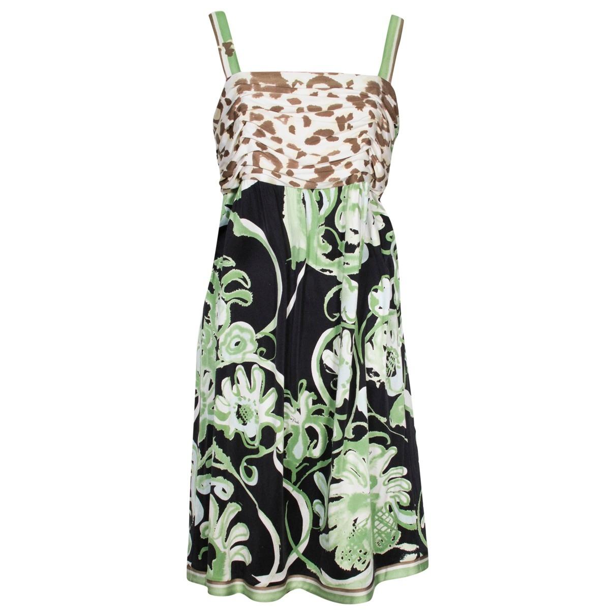 Emilio Pucci \N Green Silk dress for Women 44 IT