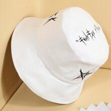 Guys Star Pattern Bucket Hat