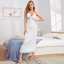 Lace Panel Modal Cami Nightdress