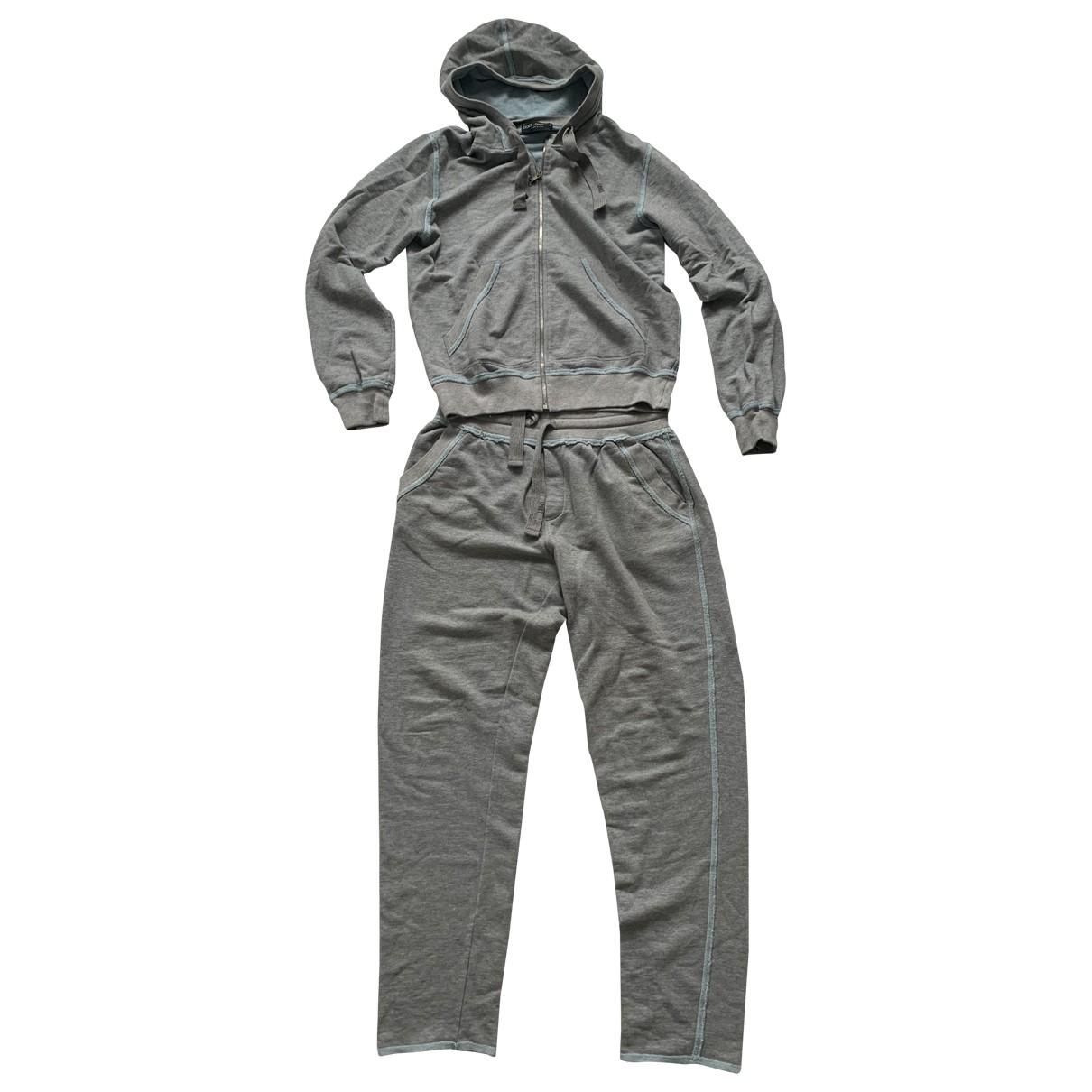 Dolce & Gabbana \N Grey Cotton Knitwear & Sweatshirts for Men 52 FR