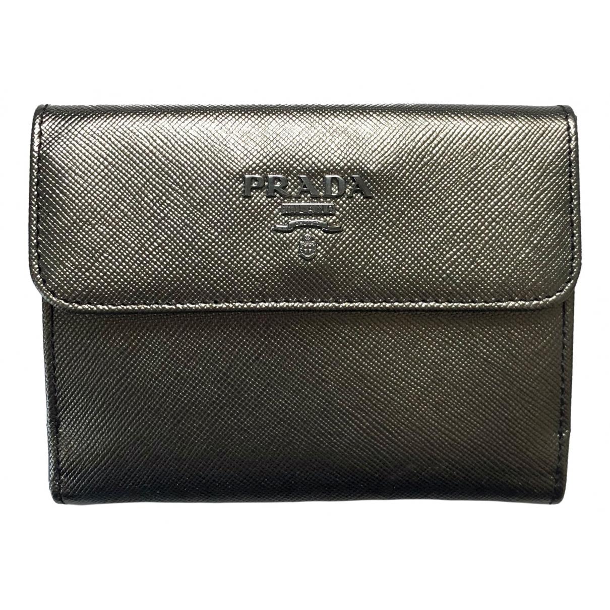 Prada Tessuto  Black Leather wallet for Women \N