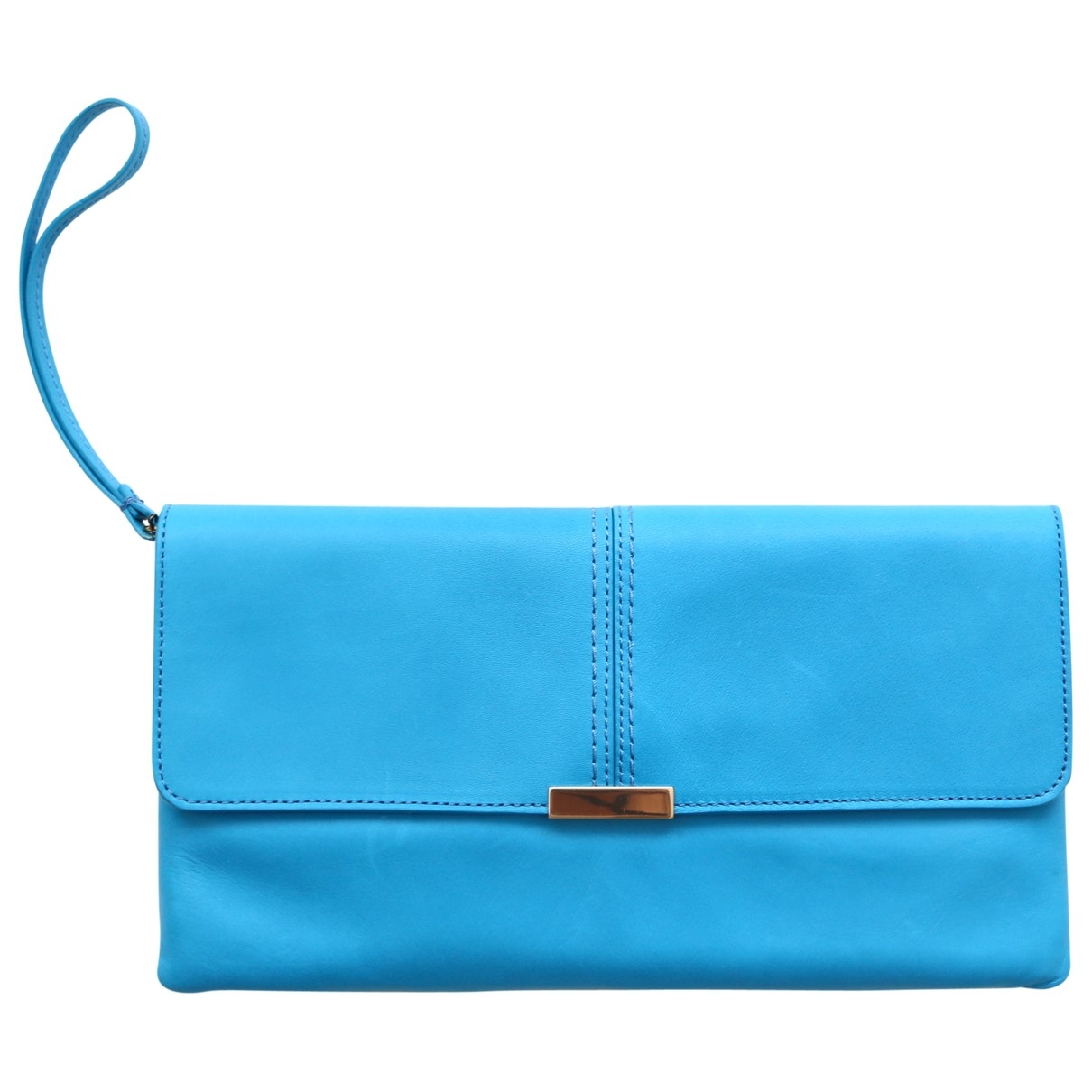 & Stories \N Turquoise Leather Clutch bag for Women \N