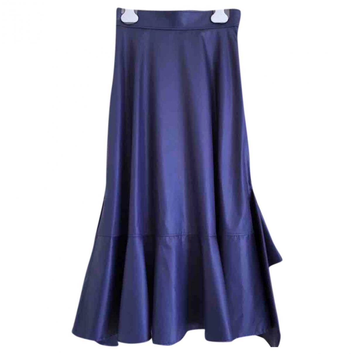 Hermès \N Blue Cotton skirt for Women 34 FR