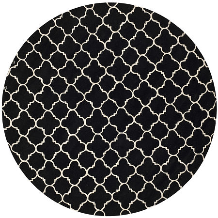 Safavieh Anna Geometric Hand Tufted Wool Rug, One Size , Black