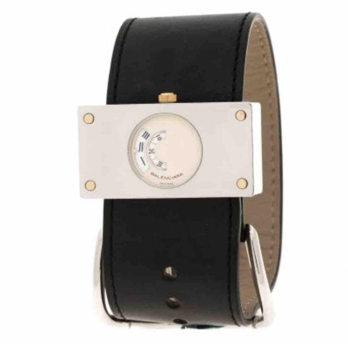 Balenciaga \N Uhr in  Schwarz Stahl