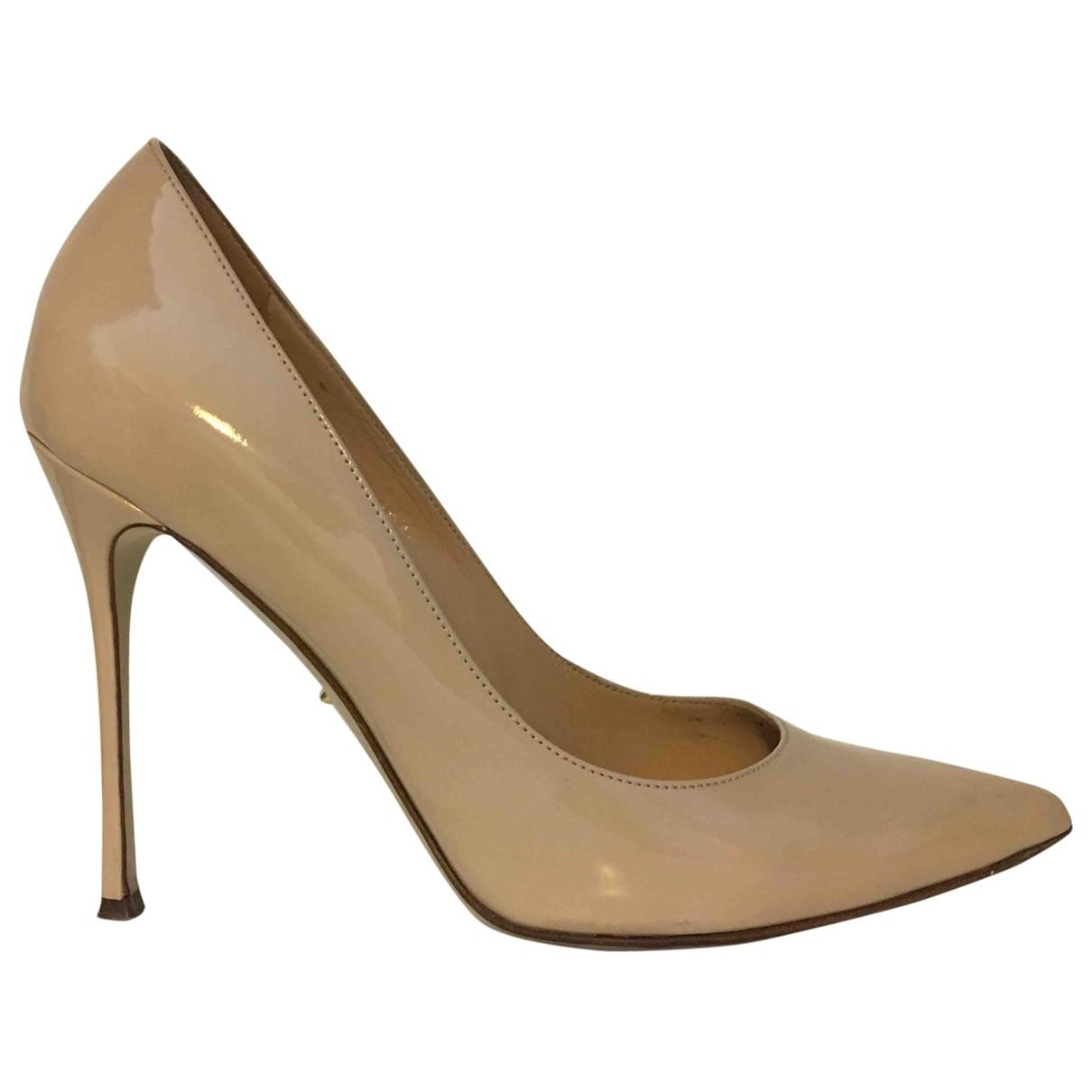 Sergio Rossi \N Beige Patent leather Heels for Women 38 EU