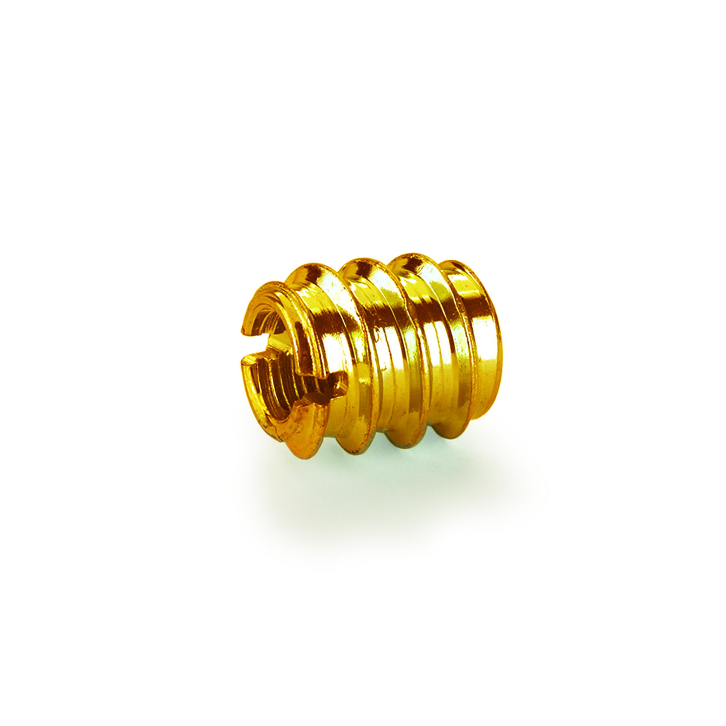 Threaded Insert - Brass - 6-32 8-piece