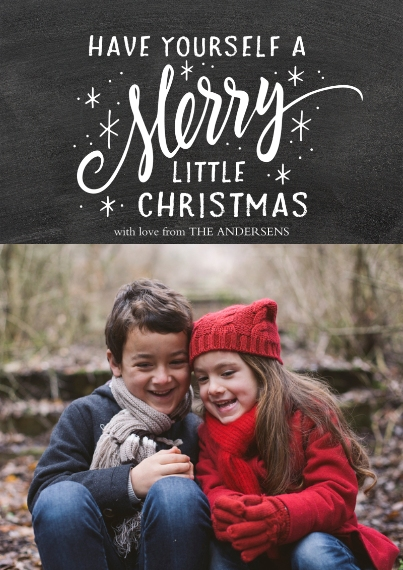Christmas Photo Cards 5x7 Cards, Premium Cardstock 120lb with Elegant Corners, Card & Stationery -Merry Little