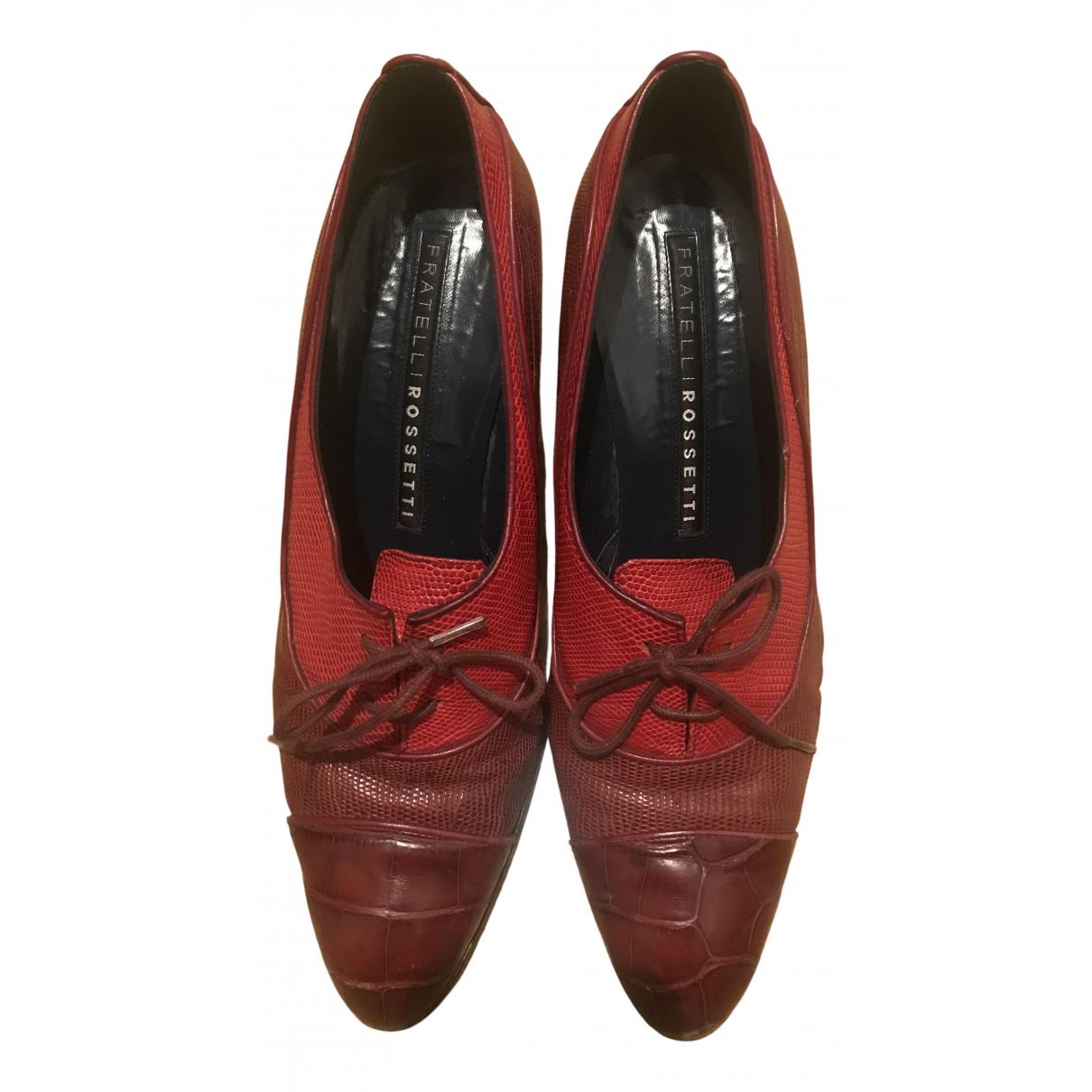 Fratelli Rossetti \N Pumps in  Rot Leder