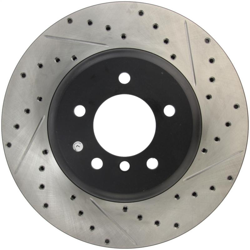 StopTech 127.34071L Sport Drilled/Slotted Brake Rotor; Front Left BMW Front Left