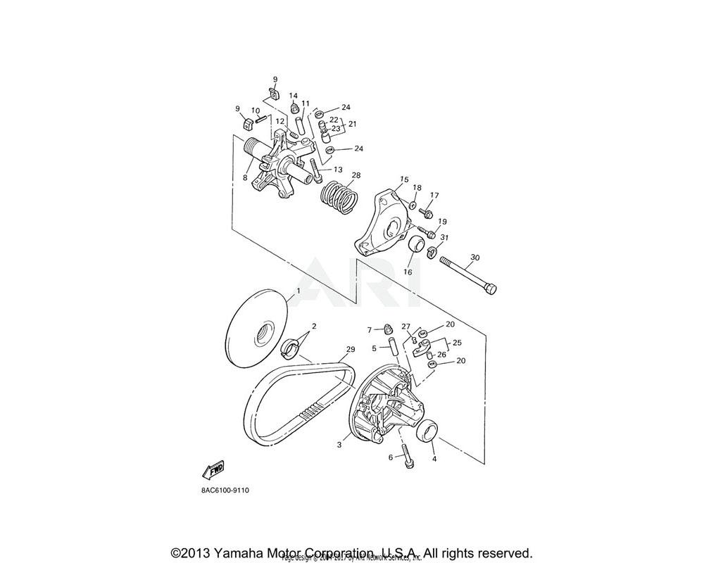 Yamaha OEM 90109-066F4-00 BOLT
