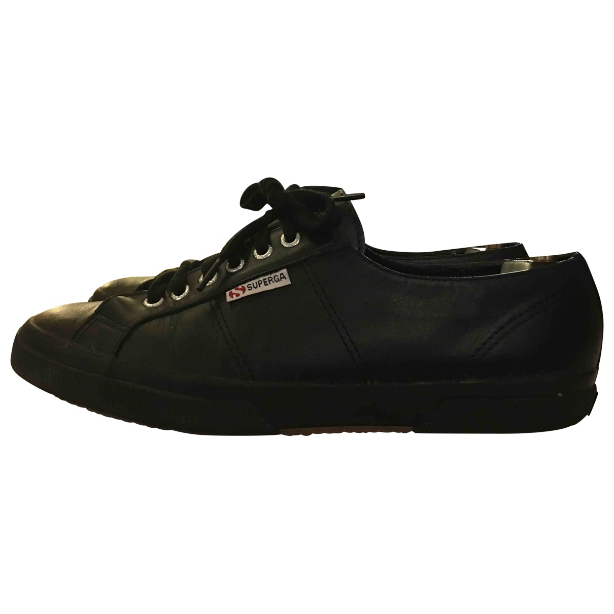 Superga \N Black Leather Trainers for Men 44 EU