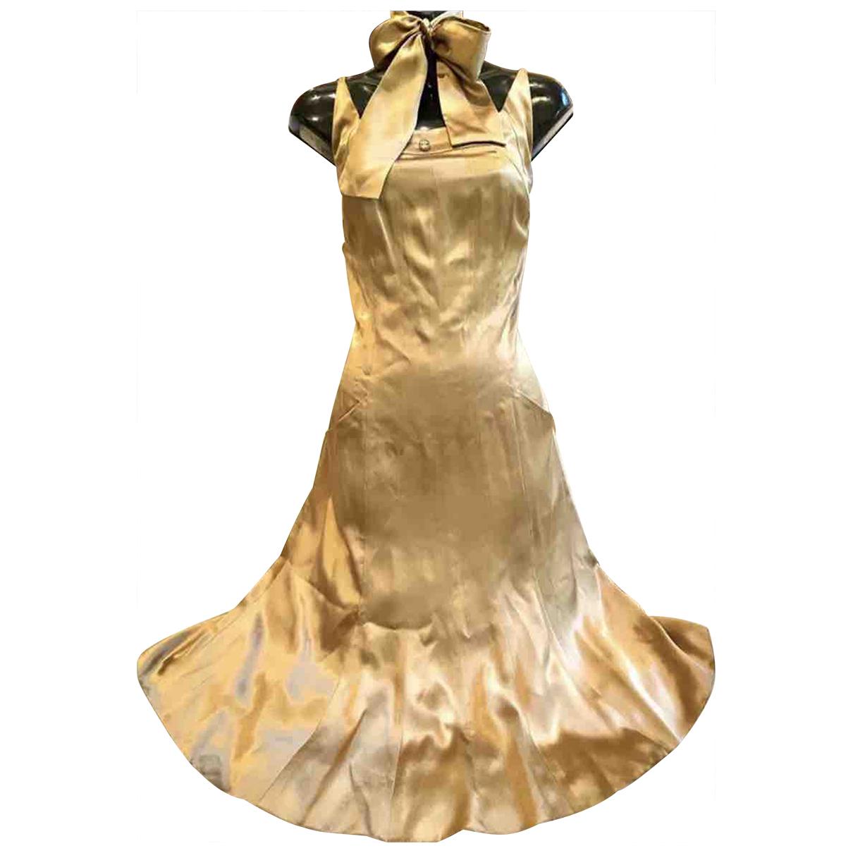 Chanel \N Kleid in  Gold Seide