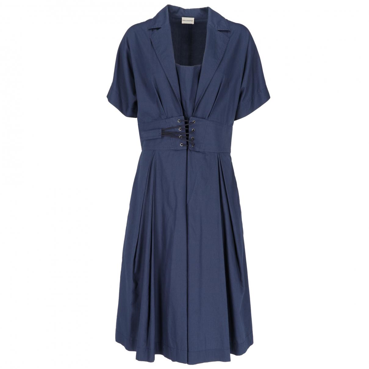 Philosophy Di Alberta Ferretti \N Blue Cotton dress for Women 46 IT