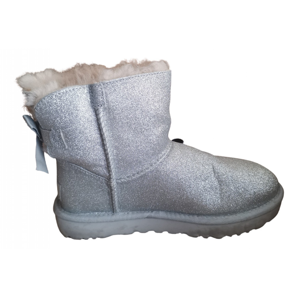 Ugg \N Silver Leather Boots for Women 37 EU