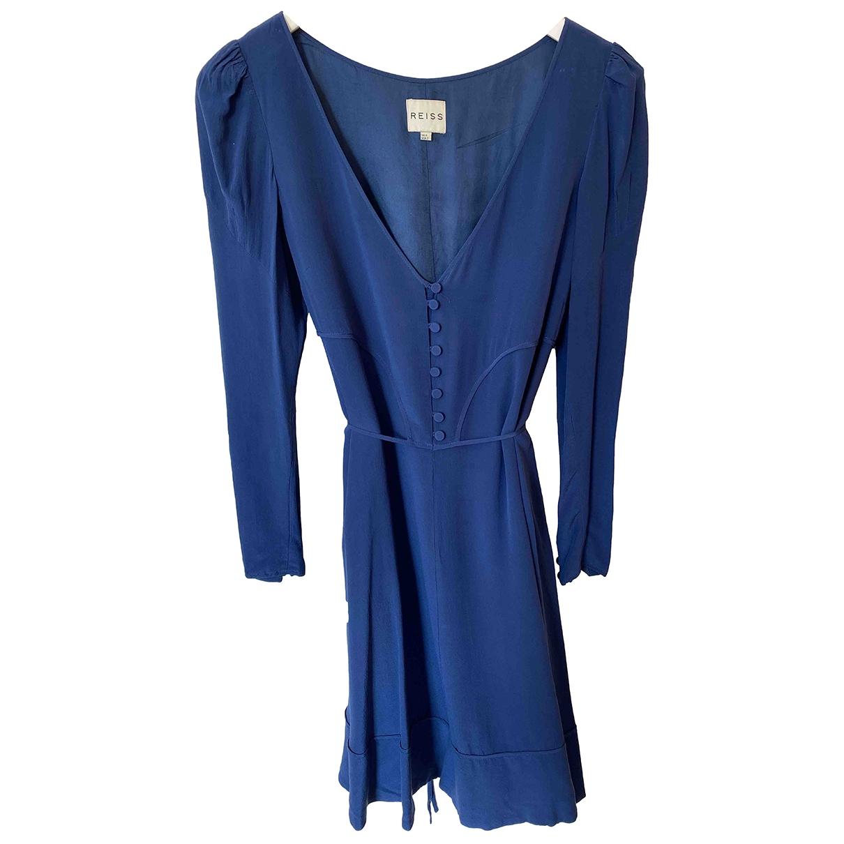Reiss \N Kleid in  Blau Seide