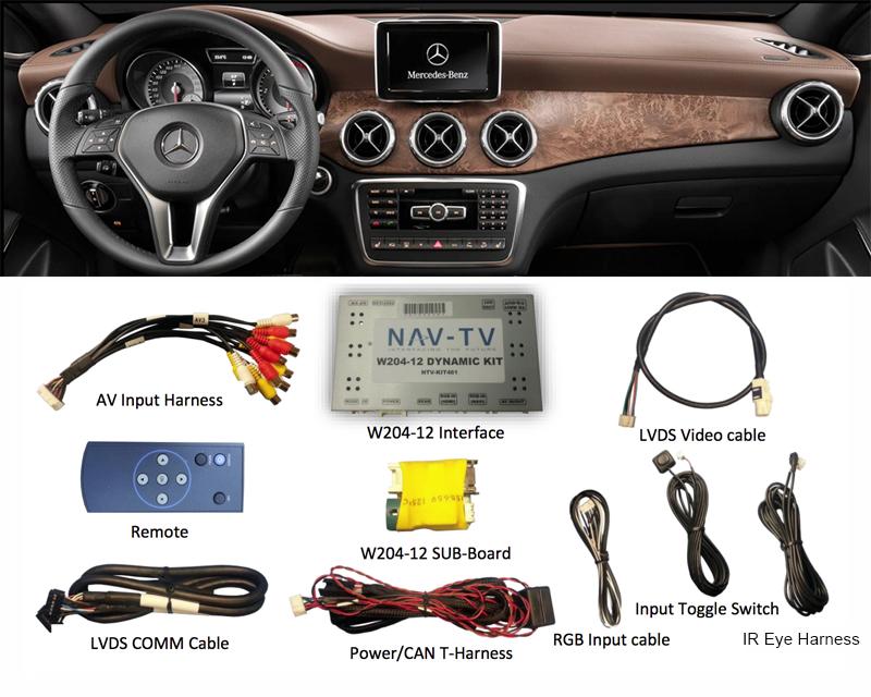 NAV-TV NTV-KIT461 Rear View Camera Integration Mercedez-Benz SLK Class 12-14