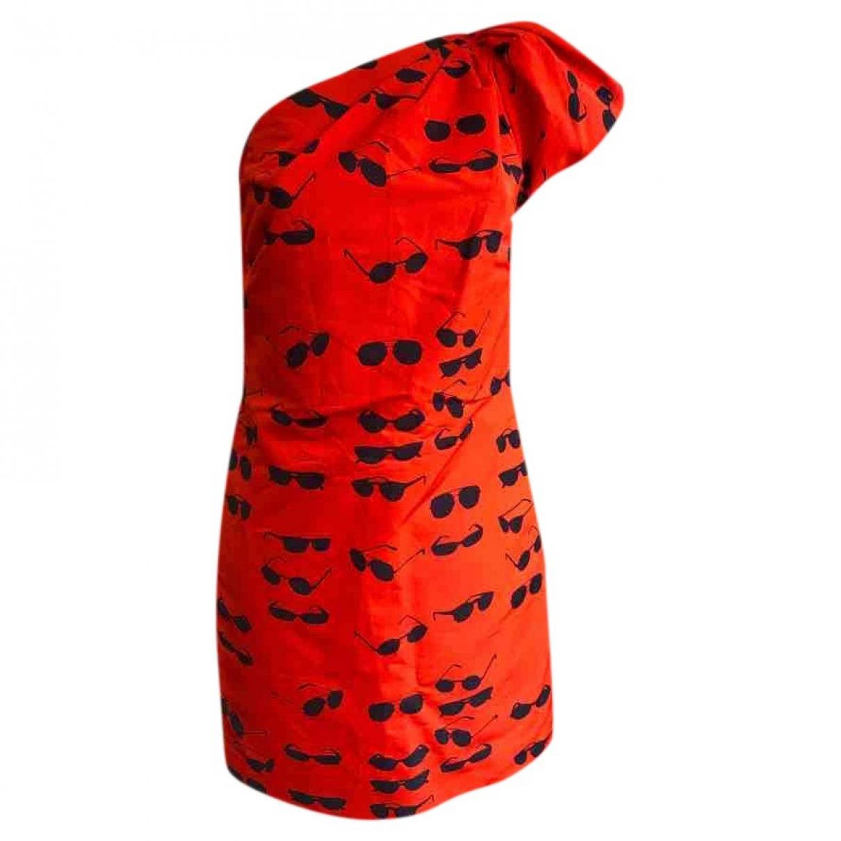 Victoria Beckham \N Kleid in  Rot Baumwolle