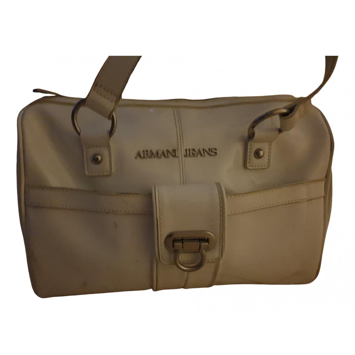 Armani Jeans \N White Patent leather handbag for Women \N