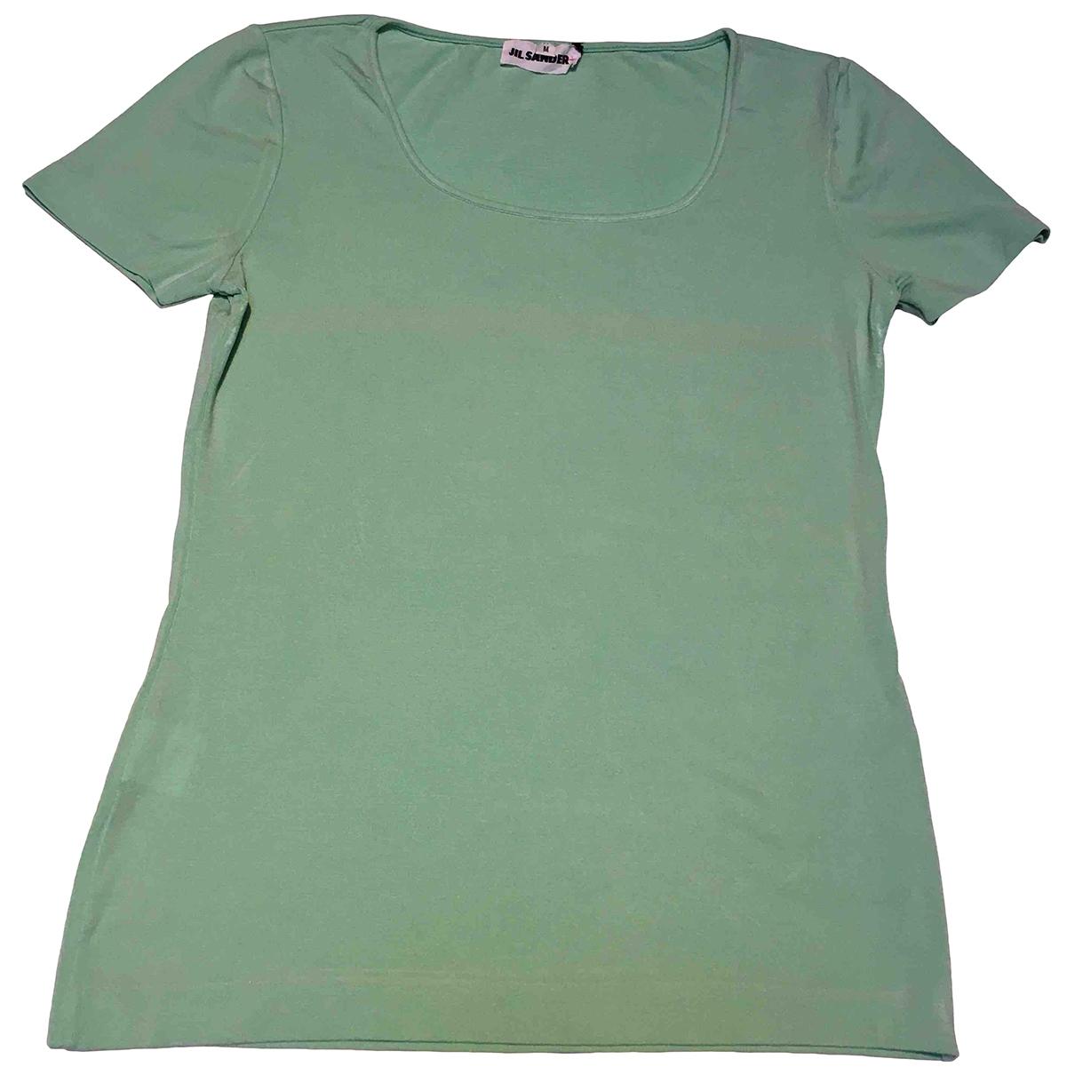 Jil Sander - Top   pour femme en soie - vert