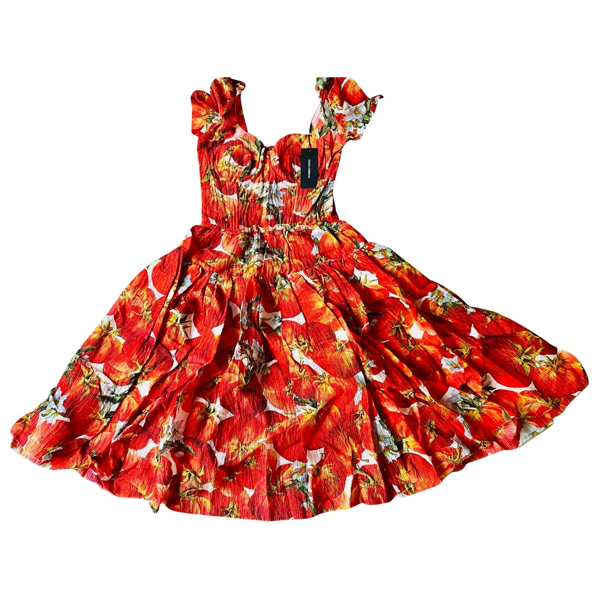 Dolce & Gabbana \N Kleid in  Rot Synthetik