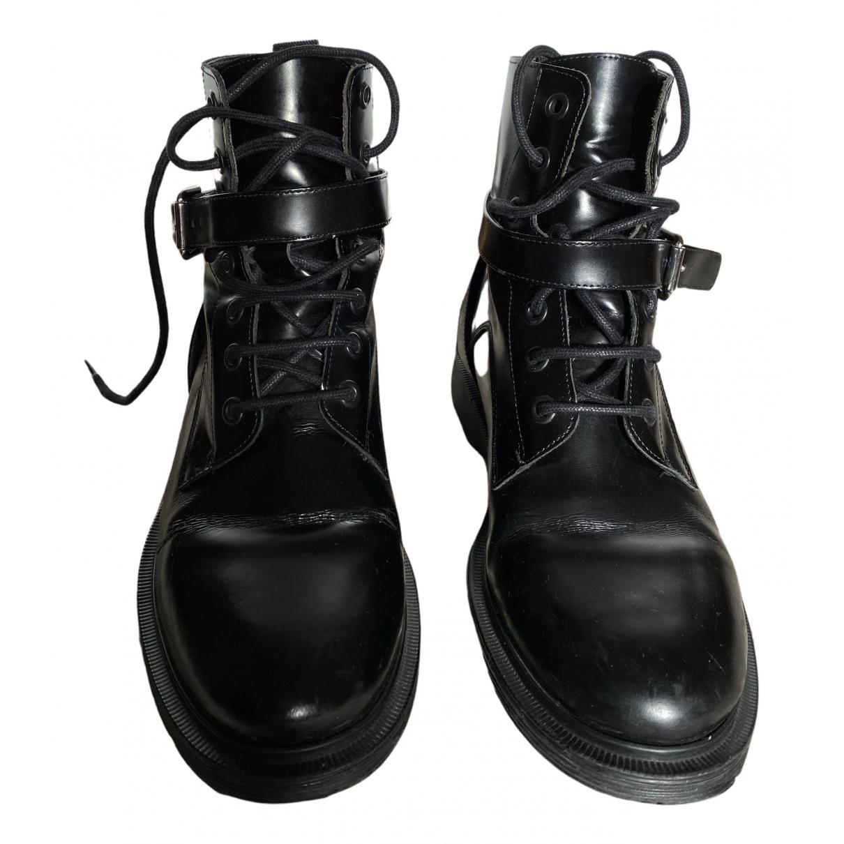 Maje \N Stiefeletten in  Schwarz Leder