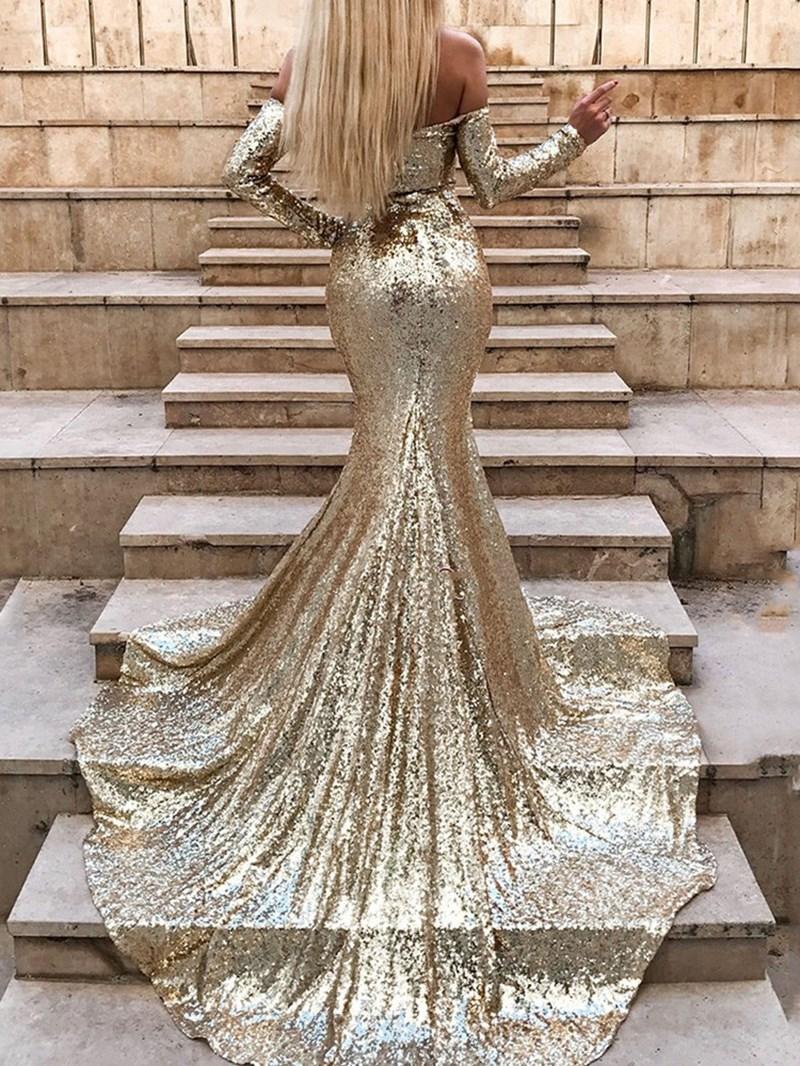 Ericdress Split-Front Sequin Mermaid Evening Dress