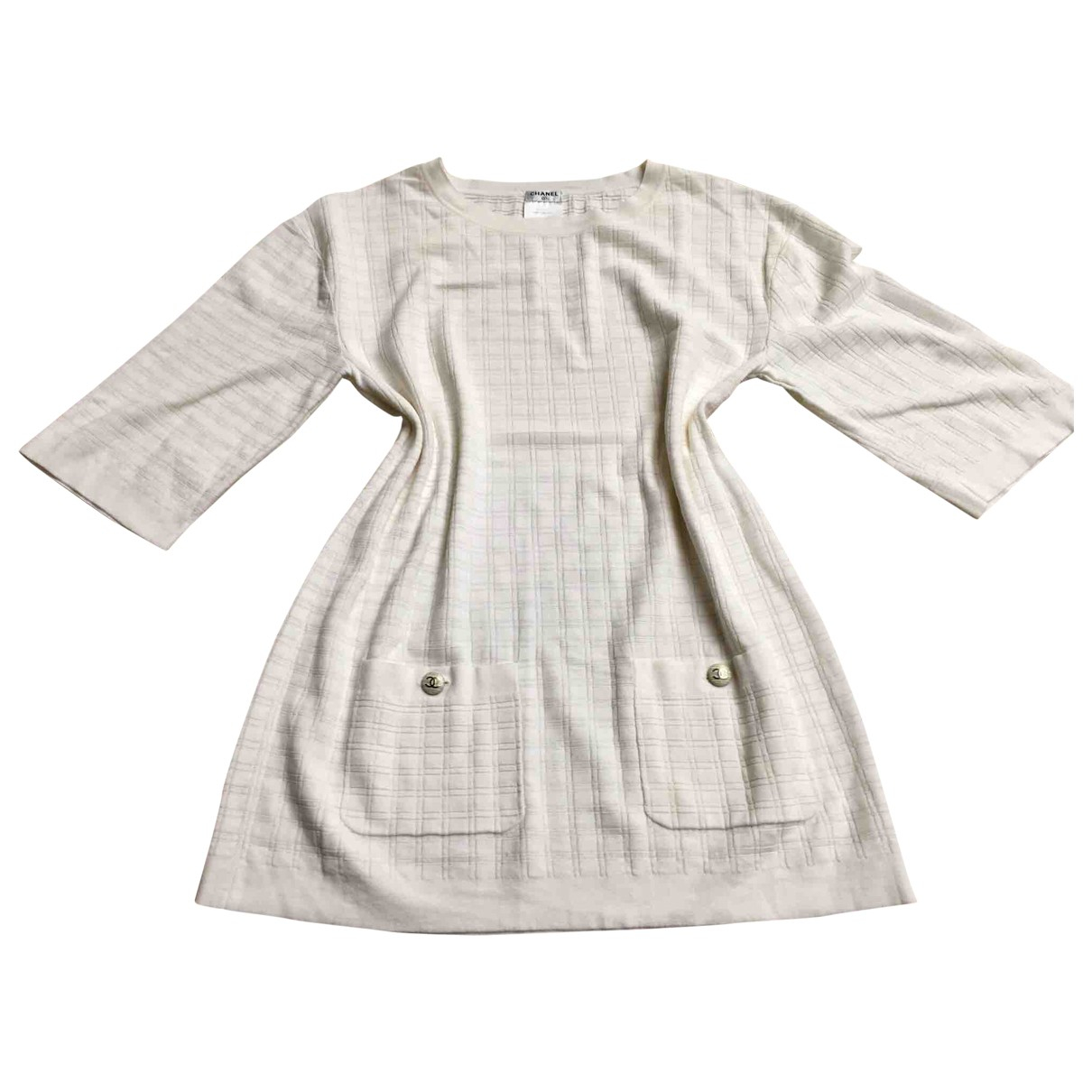 Chanel \N White Cotton dress for Women 42 FR